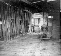 The badly deteriorated basement before the addition of dressing rooms speaks volumes about the magnitude of the renovation